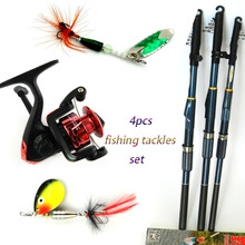 HENGJIA Spinning fishing reels armoured glass FRP fishing rod spinner spoon fishing bait lures pike bass pesca fishing tackles