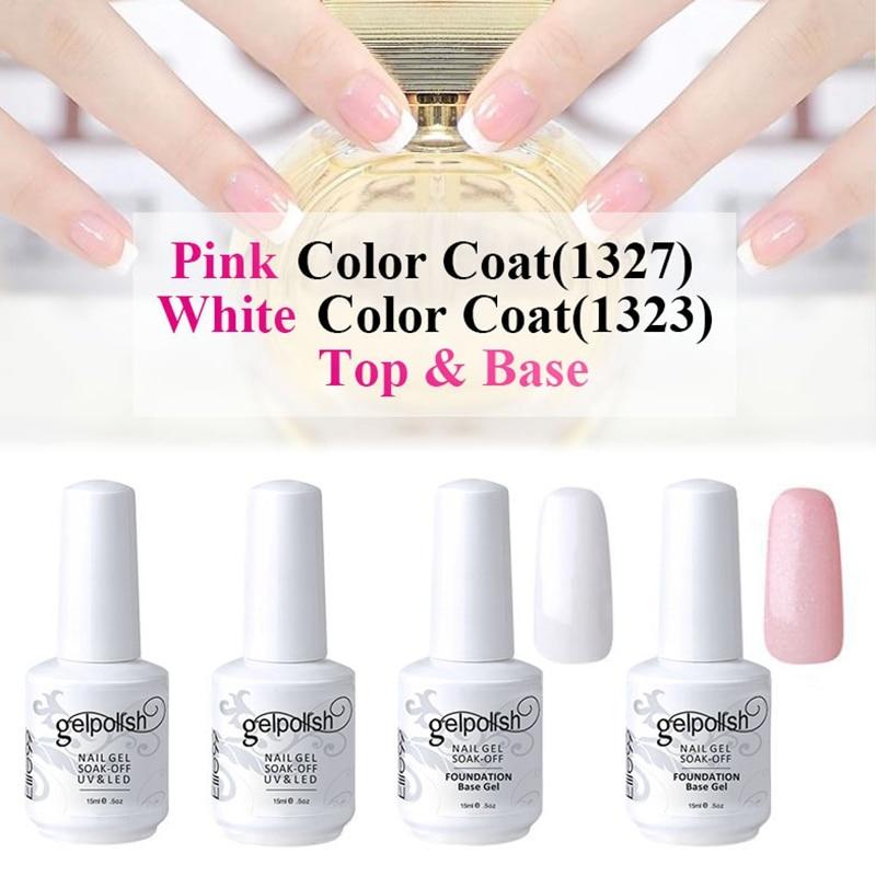 Gel Nail Polish French Manicure: Elite99 15ml UV LED Nail Gel Polish French Manicure Set