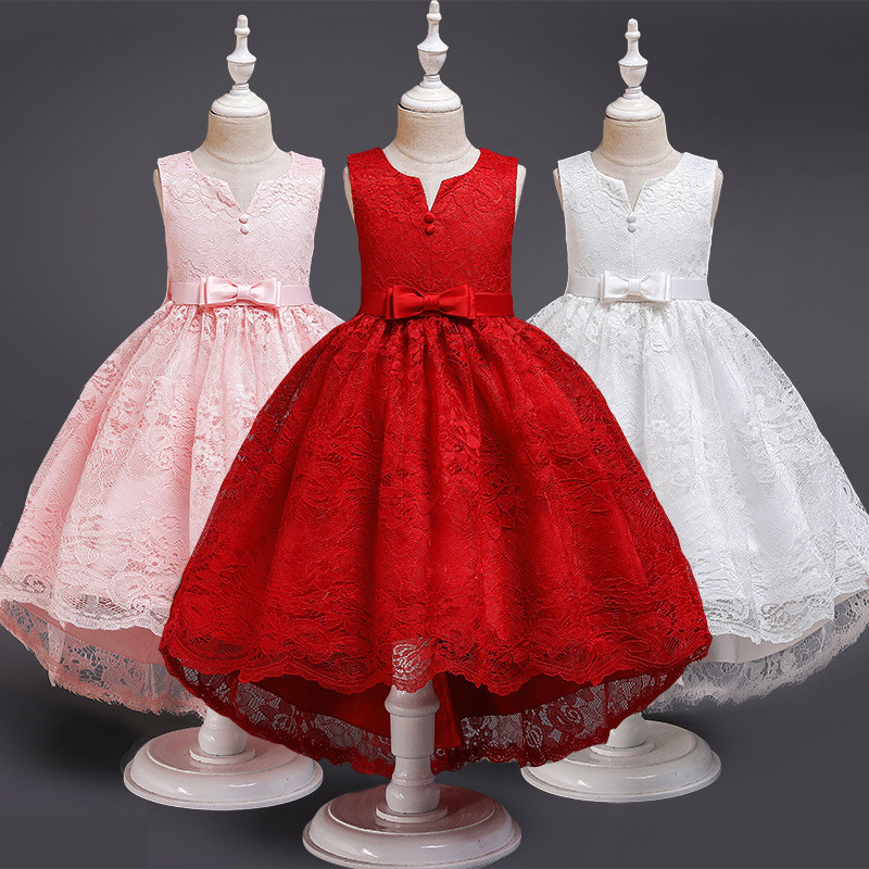 Kids Flower Girls Dress For Wedding Evening Princess Party Pageant Trailing Gown Kids Dresses For Girls Clothes