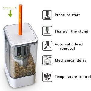 Image 4 - Kinderen Automatische Elektrische Puntenslijper Creatieve Puntenslijper Voor Home School Office Desktop Briefpapier Items