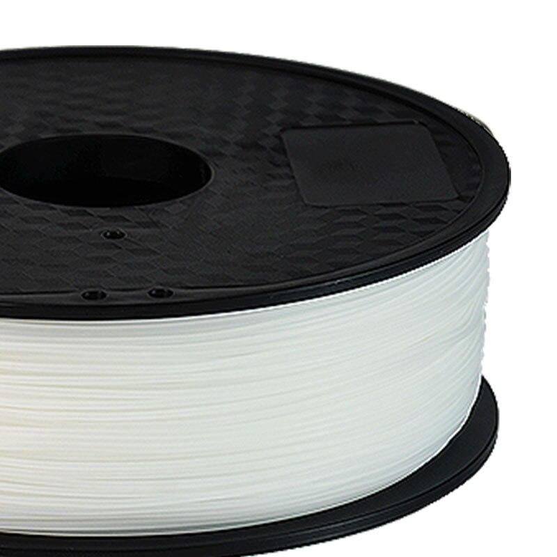 cheapest TOPZEAL PA Nylon Filament 1 75mm 1KG for 3D Printer Plastics Filament White Black Transparen Color PA Filament Printing Material