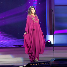Saudi Arabia Hijab Evening Dress Floor Length Chiffon Long Sleeve Sexy Embroidery Muslim Evening Gown Special Occasion Dress