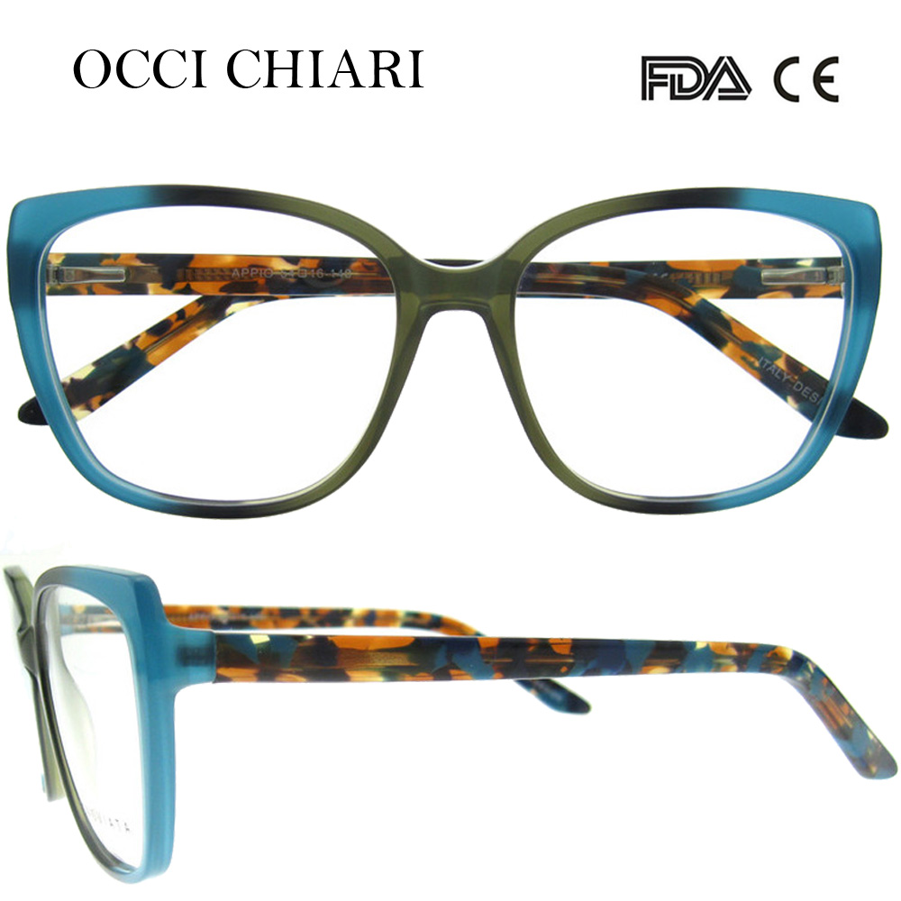 d8d72cd4e0c5 OCCI CHIARI 2018 New Fashion Italy Design Acetate Women Glasses Optical Big Eye  Glasses Fashion Frames Eyewear W-CERINI