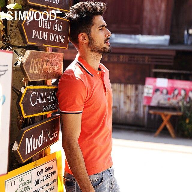 SIMWOOD 2016 New Brand Summer Men Polo Shirt Solid Turn Down Collar Short-sleeved Fashion Casual Shirt Free Shipping TD1043