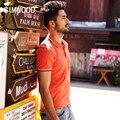 SIMWOOD 2016 Nueva Marca de Verano de Los Hombres Camisa de Polo Sólido Gira el Collar Abajo de manga Corta de Moda Casual Camisa Envío Gratis TD1043
