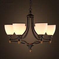 Moderno led lustre sala de estar luminárias vila americana quarto pendurado luzes da sala jantar retro lâmpadas suspensas
