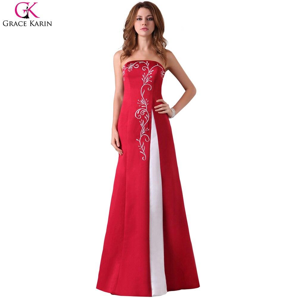 Red Elegant Long Evening Dresses
