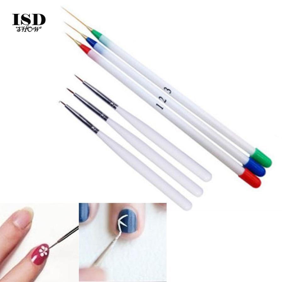 2018 6PCS Brush Nail Art Design Set Dotting Painting Polish Drawing Brush Pen for Women Beauty Nail Polish Liner Tools Kit#YYD