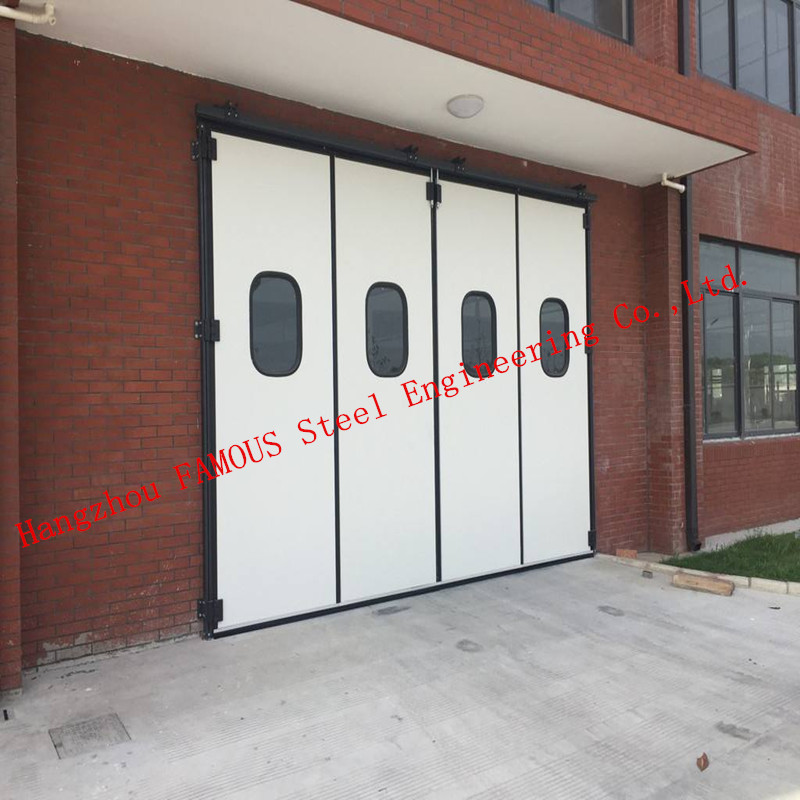 Private Customized Industrial Sliding Door Steel Buildings Kits For Warehouse / Cold Room Storage