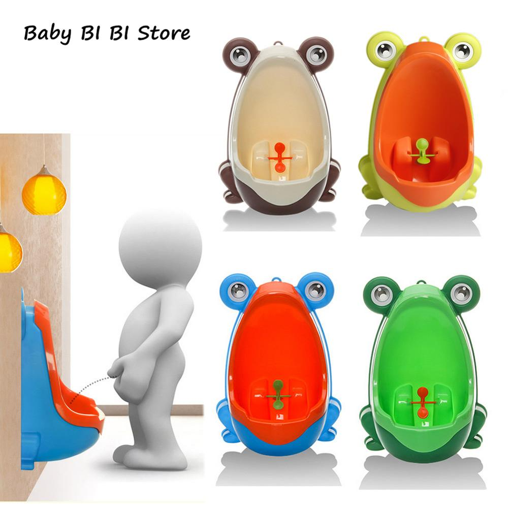 Frog Plastic Baby Boys Children Pee Potty Toilet Training Kids Urinal Bathroom