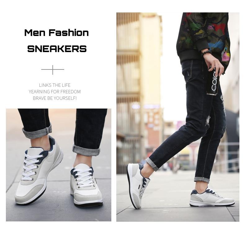 HTB1iEiJlrArBKNjSZFLq6A dVXa4 2019 Autumn New  Men Shoes Lace-Up Men Fashion Shoes Microfiber Leather Casual Shoes Brand Men Sneakers Winter Men FLats