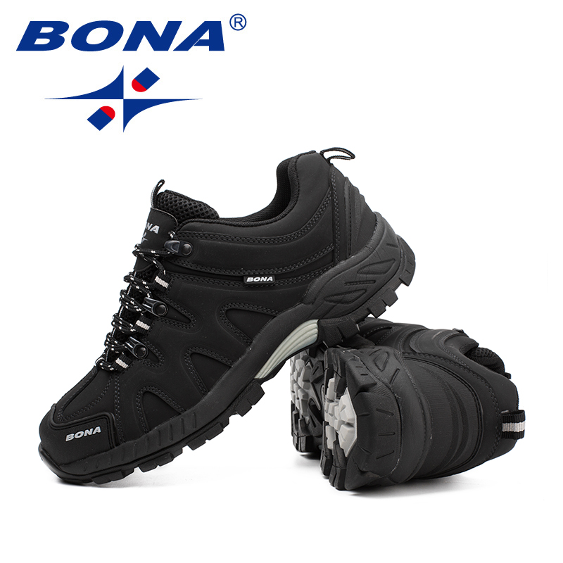 BONA New Arrival Classics Style Men Hiking Shoes Lace Up Men Sport Shoes Outdoor Jogging Trekking Sneakers Fast Free Shipping 4