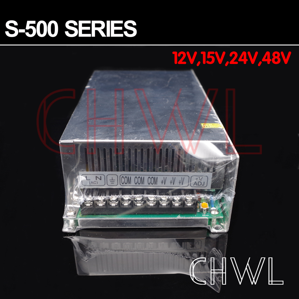Livraison gratuite haute qualité 24 V 20A 500 W alimentation à découpage pour bande de LED AC 100-240 V entrée - 2