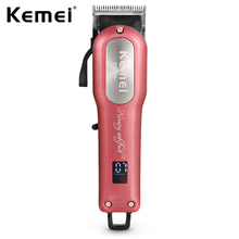 KM-1031 Hair Trimmer Professional Hair Clipper 2000mAh Lithium Battery Rechargable Hair Cutting Machine + 4 Size Limit Comb S47