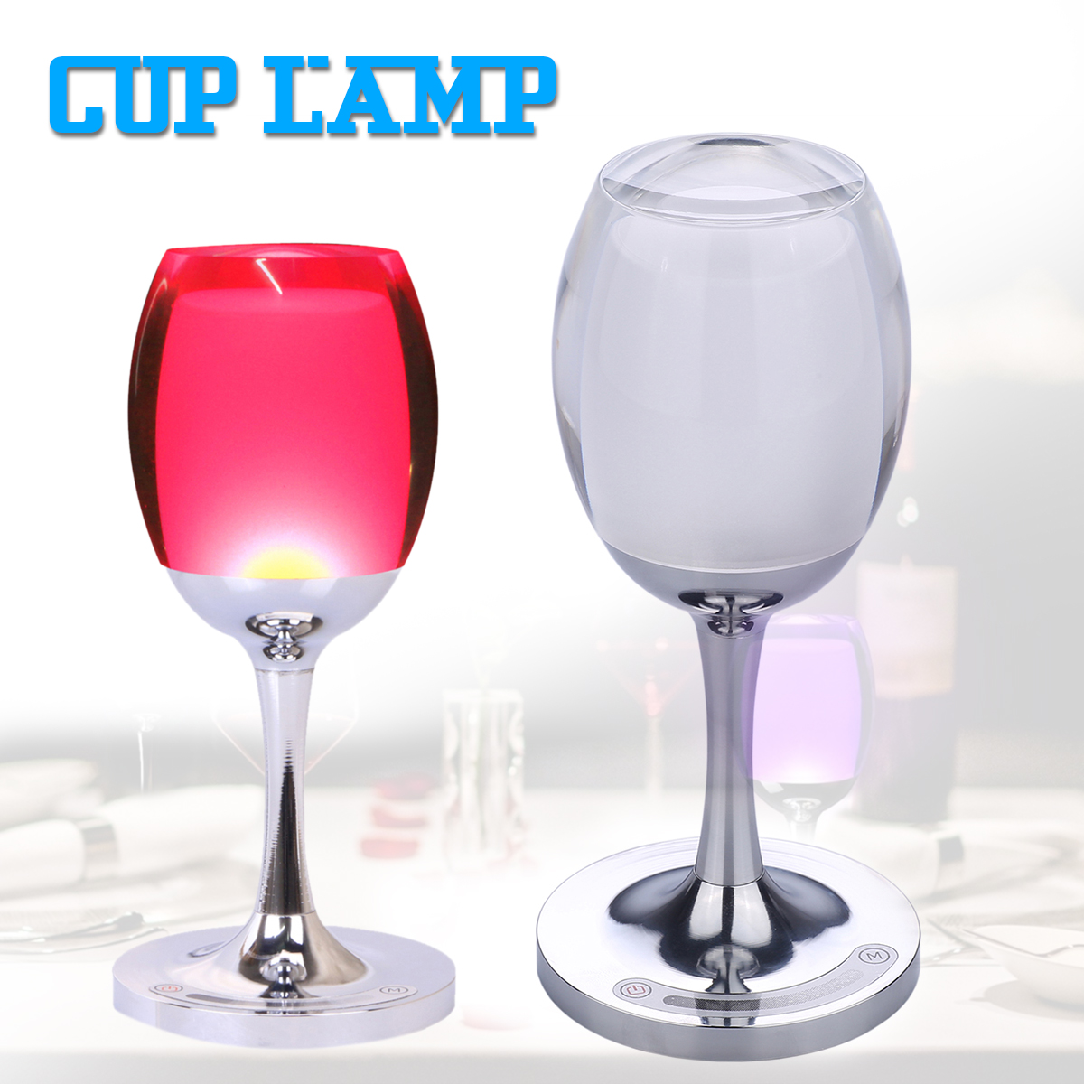 Wine Cup Table Lamp LED Desk Lamp Decor Table Light LED Night Lights Wireless remote control led light creative monje smart air purifier wireless night lights sensor lamps gift table desk lamp