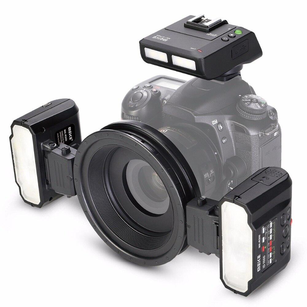 Meike Macro Twin MK-MT24 Lite Flash para Nikon D7200 D750 D800 D810 D610 Câmeras Digitais SLR