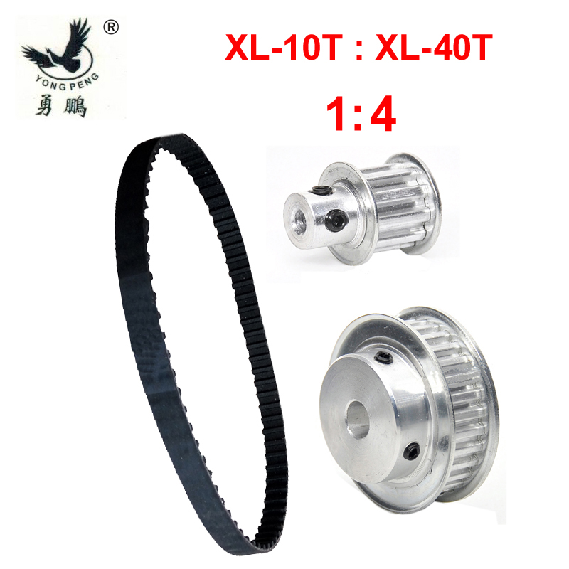 Timing Belt Pulley XL Reduction 4:1 40 teeth 10 teeth XL belt center distance 64mm Engraving machine accessories belt gear kit free fast delivery 50t big teeth htd8m timing belt pulley