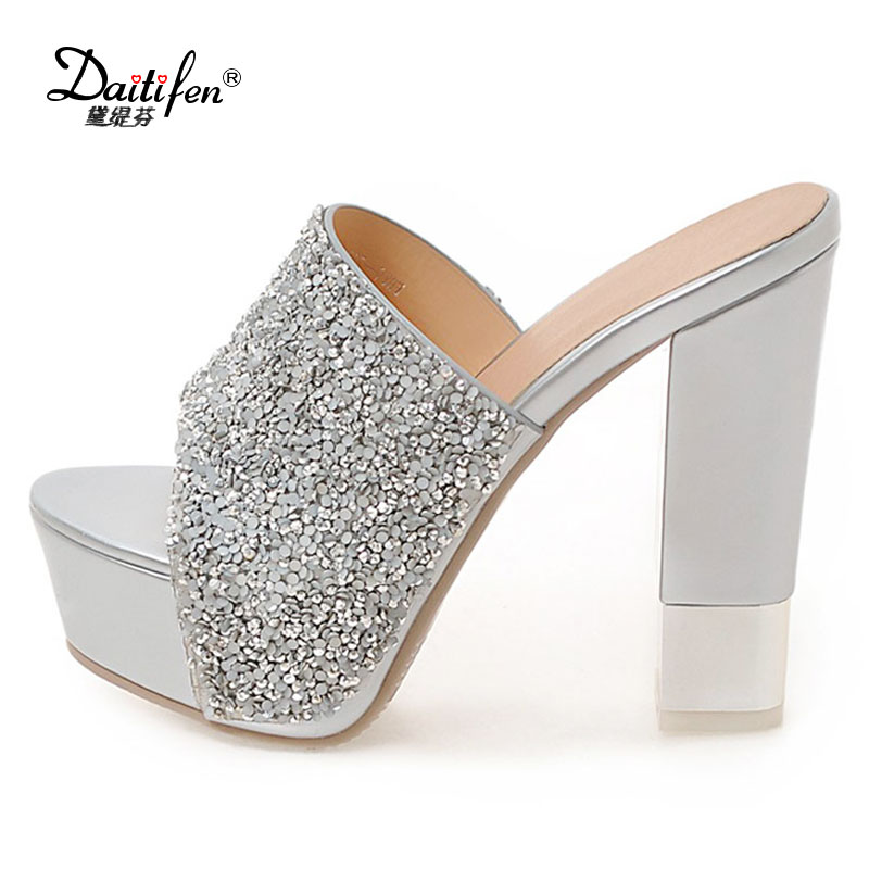Buy wedding slippers women diamond and get free shipping on AliExpress.com 06f6cefbb8ff