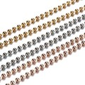 1pcs 80cm Faceted Ball Chain with Rose Gold Plated for My Coin Frame Pendant Locket Necklace 10pcs/lot