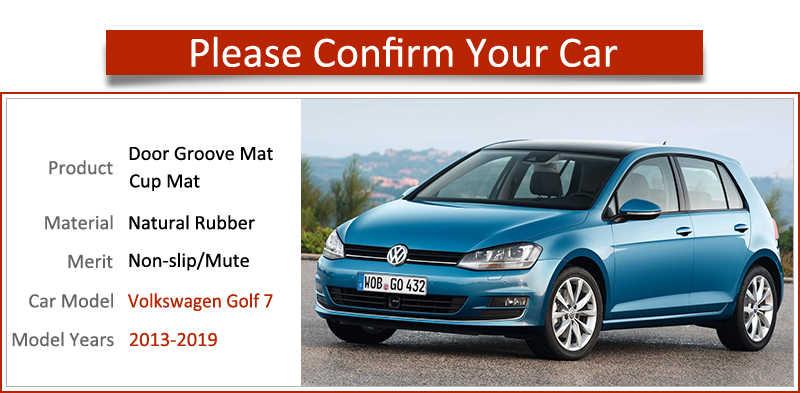 Anti-SLIP Gate SLOT แผ่นยางรองแก้วสำหรับ VW Golf 7 MK7 2013 2014 2015 2016 2017 2018 2019 volkswagen อุปกรณ์เสริมรถสติกเกอร์