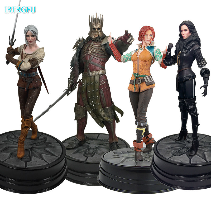 Figurine Anime The Witcher 3 chasse sauvage: roi Eredin Ciri Triss figurine Merigold cheval noir Yennefer jeu Pvc Collection jouet