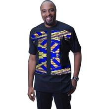 African Print Shirt Men Patchwork Fashion Dashiki Ankara Shirt Short Sleeve Tops Custom Made Africa Clothing
