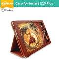 """Alta Qualidade Estojo De Couro Para Teclast Plus X10 10.1 """"Tablet, Proteção CoverFor Teclast X 10 Plus + protetor stylus + presentes"""