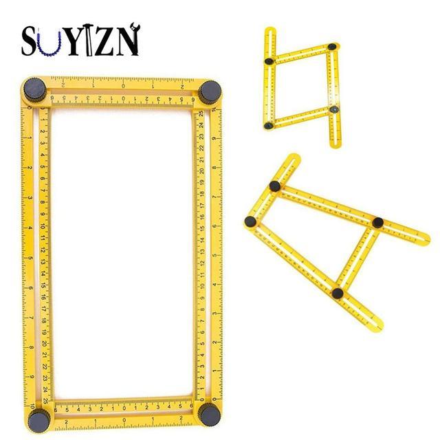 SUYIZN Multi Angle Ruler Template Tool Measures All Angles and Forms - angle template