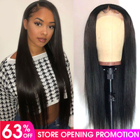 Lace Front Human Hair Wigs Brazilian Remy Hair Straight Lace Front Wig Pre Plucked Hairline For Black Women Hot Star Lace Wig