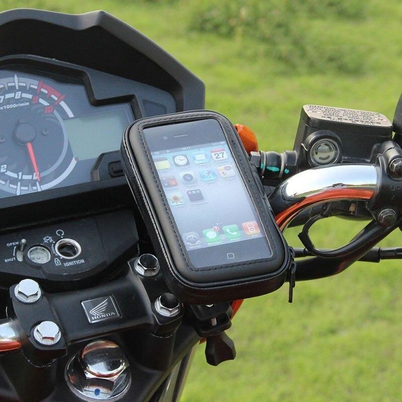 Motocicleta teléfono soporte de teléfono móvil soporte para Moto soporte para HUAWEI rojo mi 5 más S2 mi 8 SE holder bolsa impermeable