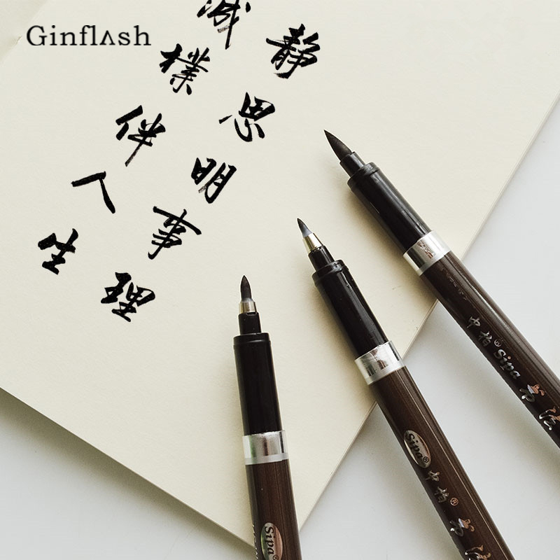 Art Marker Chinese Calligraphy Brush Pen For Signature Drawing Art Supplies Stationery School Supply ACS027