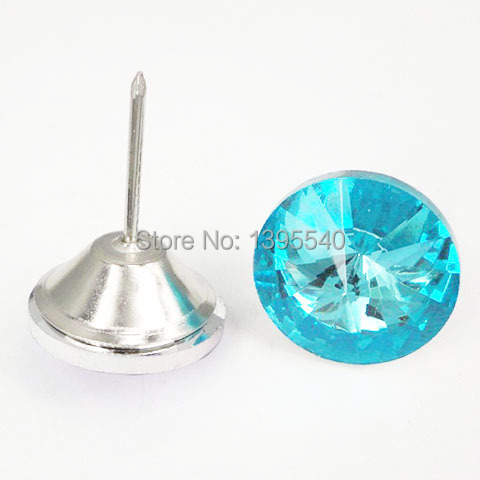 ᓂNew 30mm Blue Crystal Glass Nails Sofa Industry Decoration Fileds ...