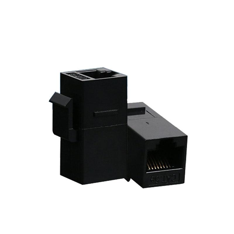 100 pcs Lot CAT5 Inline RJ45 Keystone Wall Coupler Jack Adapter 8P8C Black CAT5e
