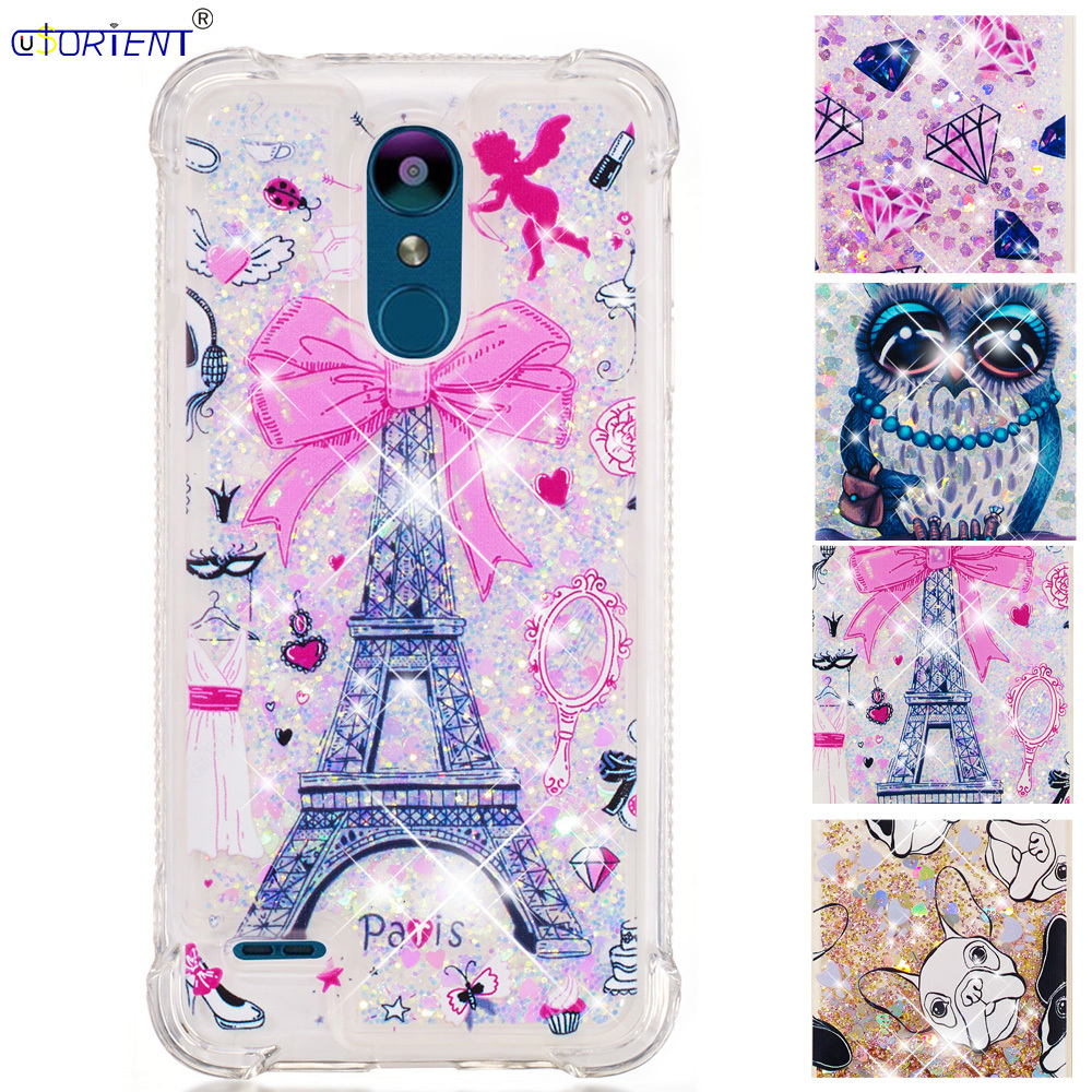 Cute Cover Lg K9 Glitter Dynamic Liquid Quicksand Bumper Case Lmx210nmw Soft Silicone Shockproof Phone Cases Lg K 9 Lgk9 Funda Products Are Sold Without Limitations Half-wrapped Case