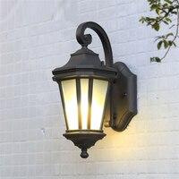 Черный Винтаж настенная в американском стиле освещение приспособление алюминий открытый настенный светильник для прохода кафе Лофт Ресто