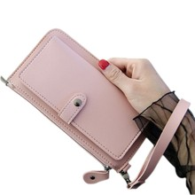 Women Top Quality Leather Wallet Multifunction Female Purse Long Big Capacity PU Card Holders 2019 carteira