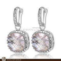 New! Stunning Fashion Jewelry Morganite 925 Sterling Silver Earrings E0152