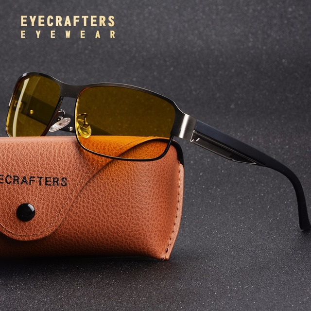 13f914fcfbb Eyecrafters Yellow Lens Polarized Sunglasses Men Night Vision Goggles  Driving Glasses Driver Aviation Polaroid Sun Glasses UV400
