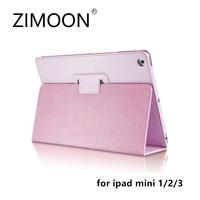 Zimoon For Apple IPad Mini 1 2 3 Magnetic Auto Wake Up Sleep Flip Litchi Leather
