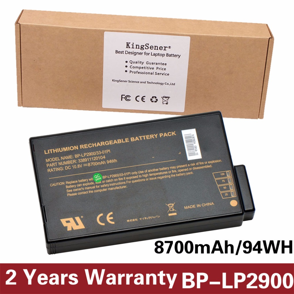 KingSener New Notebook Battery for Getac X500 V100 V1010 V200 BP-LP2900/33-01PI 338911120104 BP-LC2600/33-01S1 10.8V 8700mAh кейс для диджейского оборудования thon case for xdj rx notebook