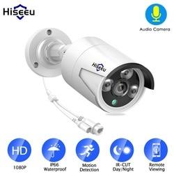 Hiseeu H.265 1080P POE IP Camera 2MP Bullet CCTV IP Camera ONVIF 2.0 for POE NVR System Waterproof Outdoor Night Vision