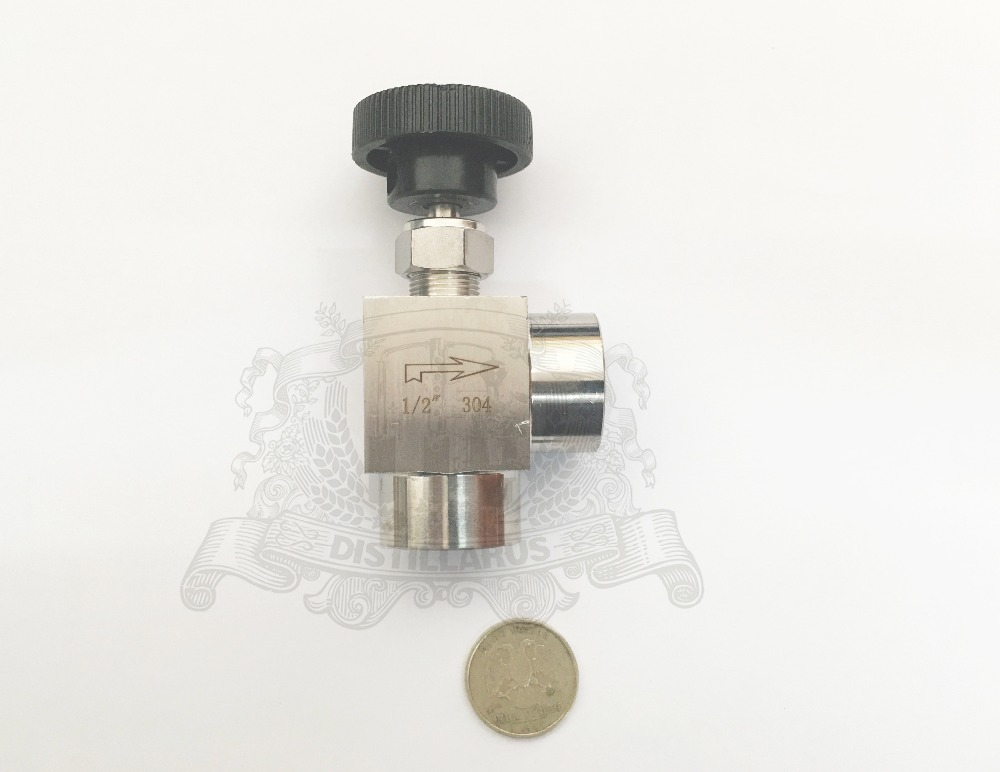 1 2 DN15 needle valve 90 degree Stainless steel 304
