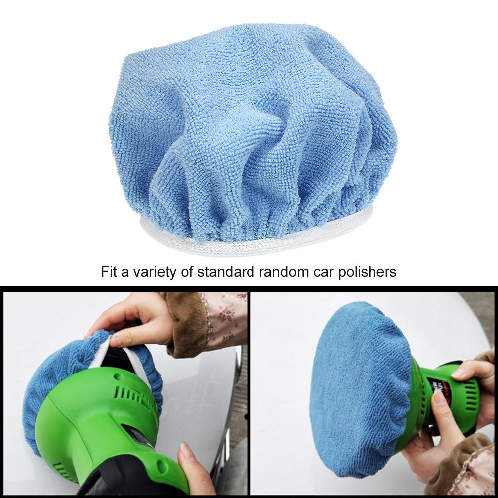 "1X 5-6/"" Microfiber Car Polishing Waxing Polisher Bonnet Buffing Pad Cover Useful"