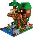 2017 Lepin 18009 Bloques de Construcción serie escena 406 unids Minecrafted árbol casa de ladrillo serie escena Steve mini Bloques De Juguete