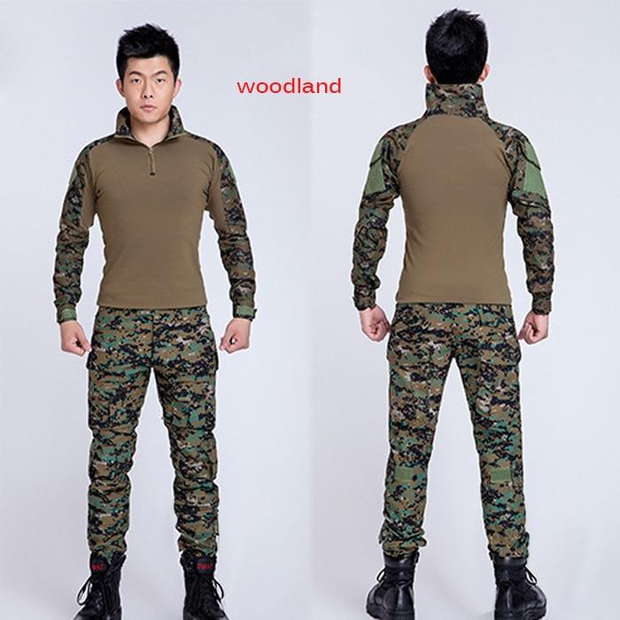 Muži Outdoor Frog Suit Army Military Uniform Taktické BDU Navy - Sportovní oblečení a doplňky