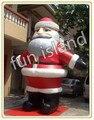 Frete grátis atacado ao ar livre pés papai noel inflável decoração de natal