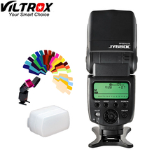 Viltrox JY 680C Highspeed Speedlite LCD E TTL Flash Voor Canon EOS t5i t4i t3i 700D 650D 600D 1100D 550D 400D Gratis verzending