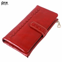 PONGWEE Genuine Leather Wallet Women Long Bag New Design Fashion Malfunction Purse Style Cowhide Purse Wholesale