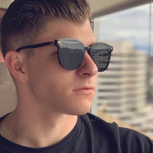 PAWXFB 2019 New Square Sunglasses Men Retro Driving Oversized Male Fashion Vintage Big frame Celebrity Eyewear Shades