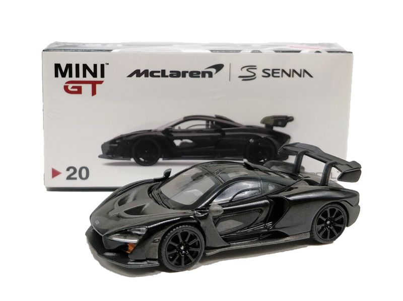 1:64 TSM Model MINI GT McLaren Senna Onyx Black Diecast Model Car